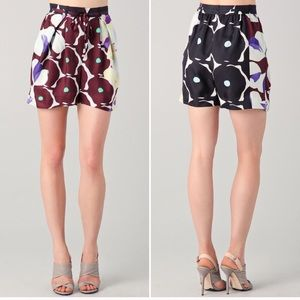 BNWT DVF silk shorts